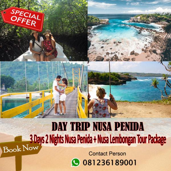 3 Days 2 Nights Nusa Penida + Lembongan Tour Package