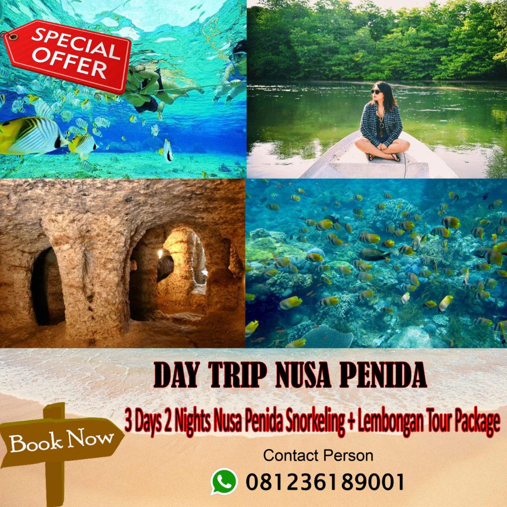 3 Days 2 Nights Nusa Penida Snorkeling + Lembongan Tour Package